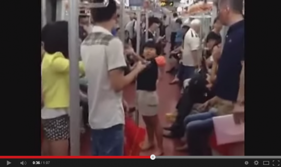 Little girl riding the subway in China threatens to kill older woman, bystanders gasp in disbelief
