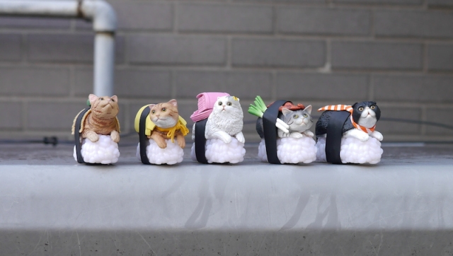 Cat Sushi figures return to Japanese vending machines! Our collection (and lives) are complete
