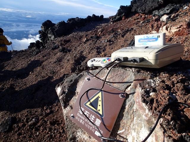 Super Nintendo climbs Mt. Fuji, brings Japanese guy along for companionship