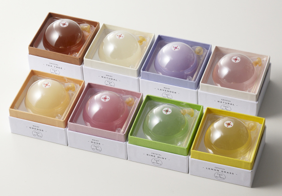 Soft, squidgy and irresistible — these beautiful jelly soap balls have to be popped open to use