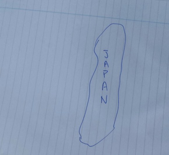 Could you draw a map of Japan that doesn't look like poop?
