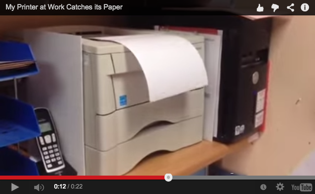 Japan-made printer briefly impresses the Internet by catching its own paper
