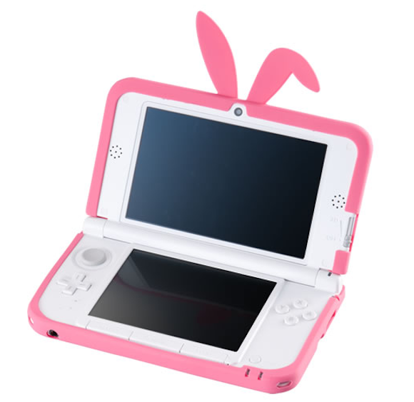 If Playboy made games consoles: Cute but cumbersome bunny ear covers for Nintendo 3DSLL