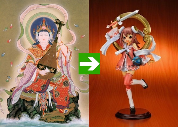 Tokyo's moe temple is now selling Buddhist goddess anime figures