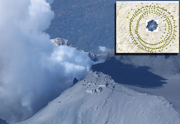 Geographical Survey Institute posts 184 images of Mount Ontake eruption online