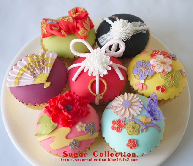 Cupcakes almost too beautiful to eat! Adding a Japanese touch to cake decorating