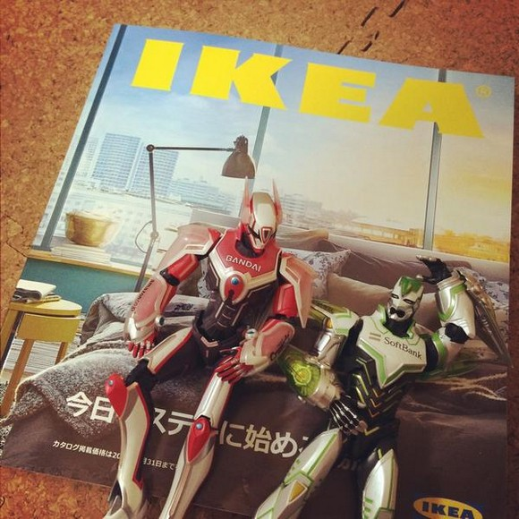 Japanese Twitter user turns IKEA catalog into TIGER & BUNNY's private quarters【Photos】