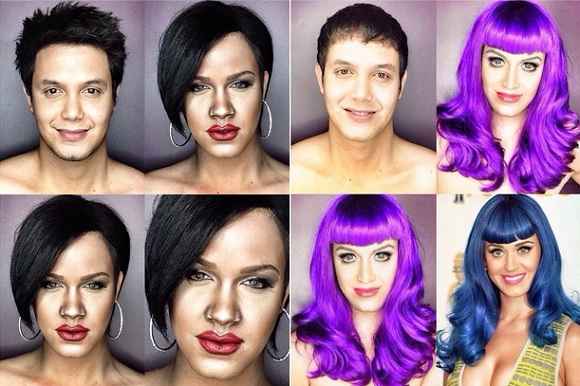 Filipino actor transforms into celebrity women with a little help from his friends