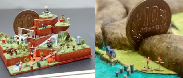 A tiny, epic ode to Nintendo: Zelda and Super Mario 64's worlds recreated as miniature dioramas