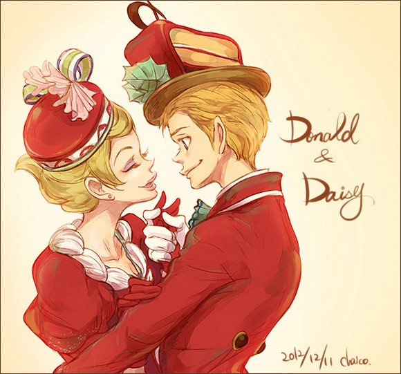 donald_and_daisy_by_chacckco-d5nsu5z