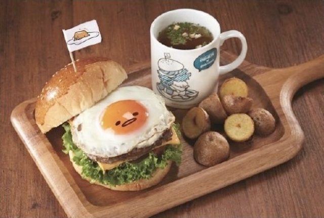Gudetama the lazy egg now being served as actual dish, looks absolutely adorable!