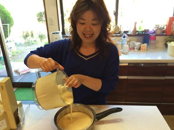 making cheese cake