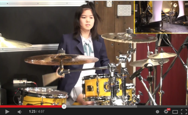 Amazing schoolgirl drummer nails anime theme, and her music career is just getting started