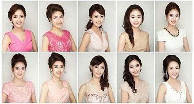 Attack of the Clones: Finalists in this year's Miss Korea contest once again looking eerily alike