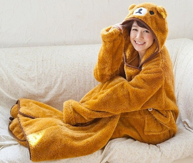 What's under Rilakkuma's suit? Find out for yourself with this insanely cosy onesie