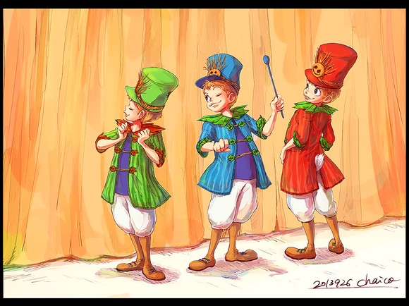 little_three_caballeros_by_chacckco-d6nyg4r
