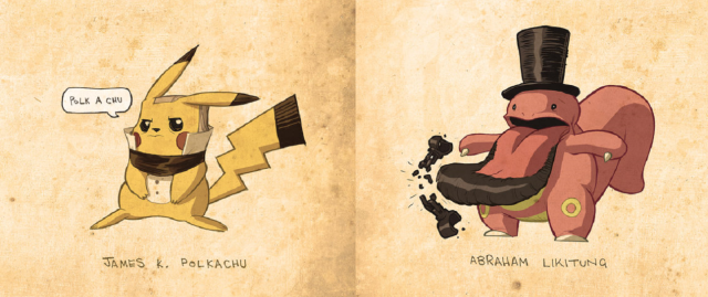 Presidential Pokémon have our vote as today's coolest fan art