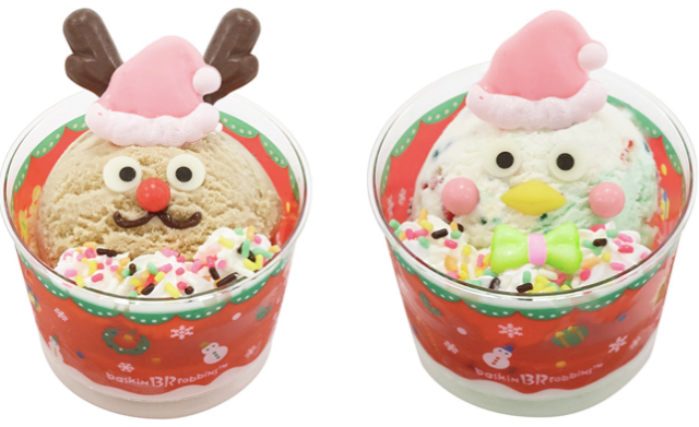 Eat a red-nosed reindeer and Santa Penguin this Christmas at Baskin Robbins Japan