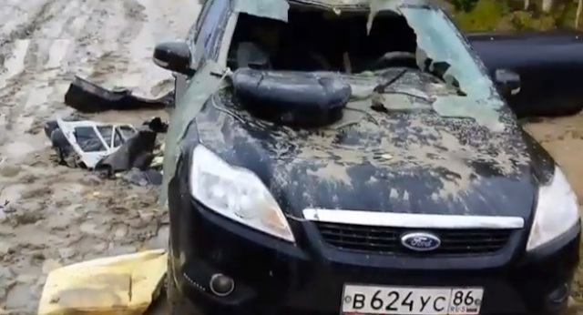 Hunter finds his car trashed by wounded bear he shot the day before 【Video】
