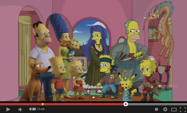 The Simpsons Halloween episode pays tribute to popular anime