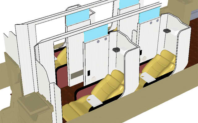 New first-class bus seats have built-in massage functions, internet access and… dictionary