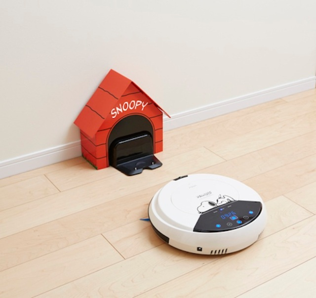 Snoopy to your cleaning rescue — and he even comes with his own doghouse power source!