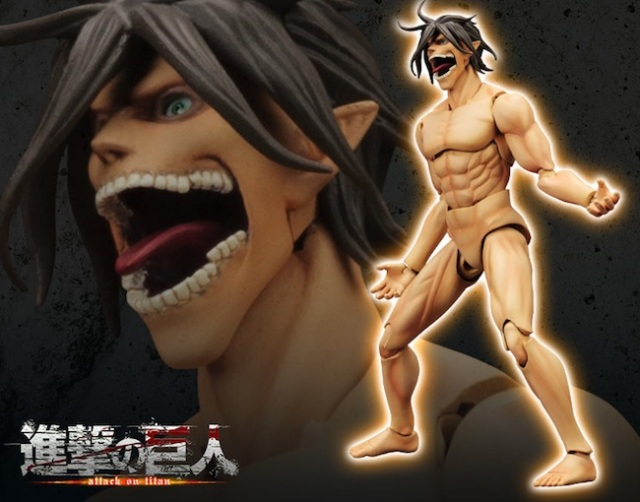 "Fully posable ""Titan Eren"" figure to debut next year, looks just as nude/terrifying as expected"