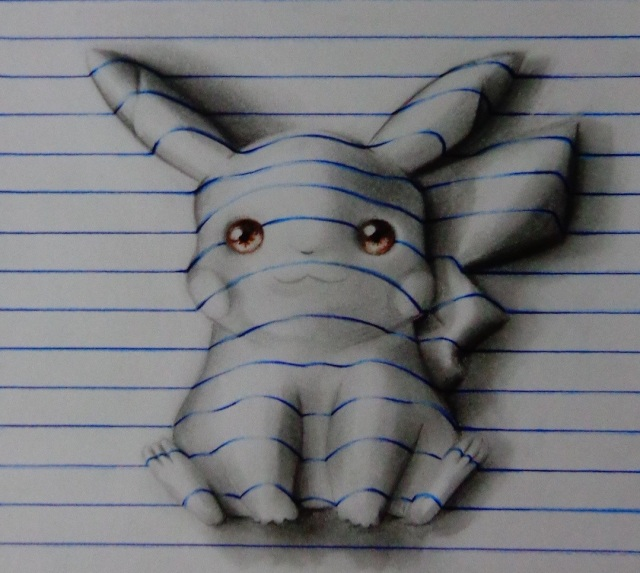 """Creative 15-year-old artist makes characters pop out of """"notebooks"""" like magic"""