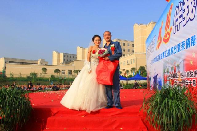 Chinese drug dealer weds girlfriend in elaborate prison wedding 【Photos】