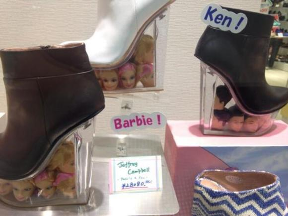 Barbie head shoes14