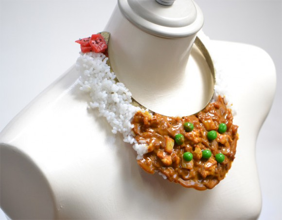 Love curry? Why not wear it around your neck? Plastic food neckpieces get netizens talking