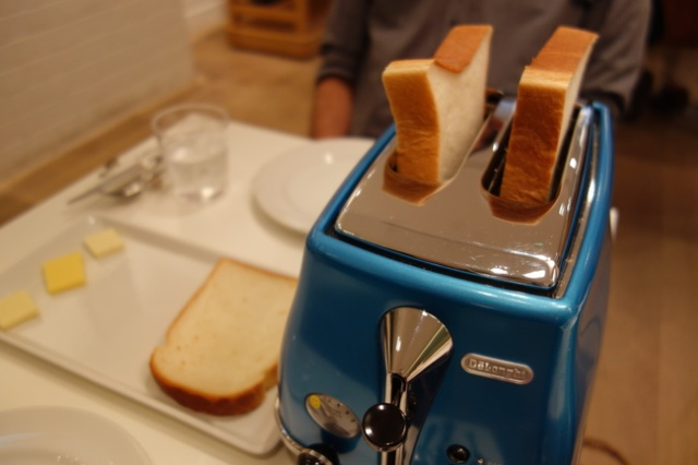 Choose your own toaster at the specialty toast restaurant in Tokyo