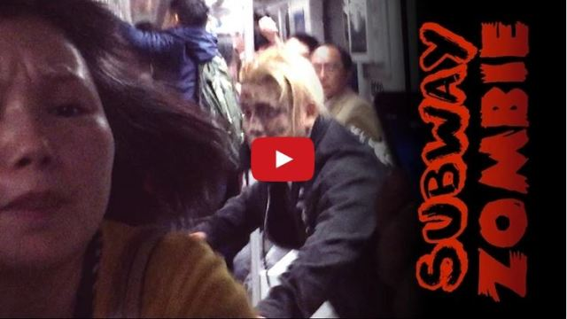 Taking the joke too far? Bloodied zombie subway prank in Shanghai raises eyebrows