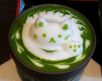 Green Tea Latte Art15