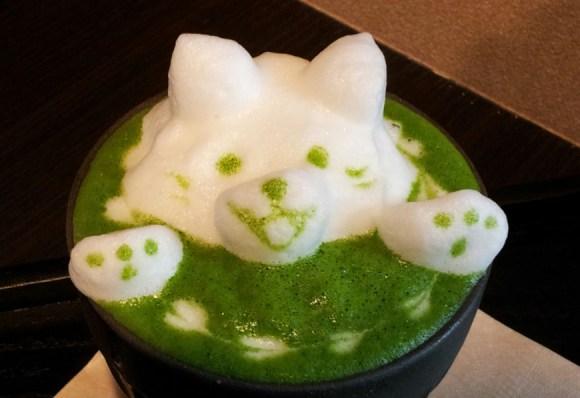 Green Tea Latte Art4