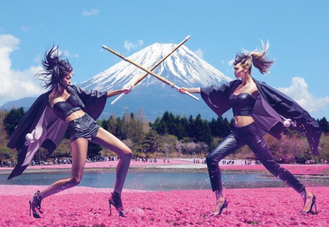 New Guess ad campaign features Japan in all her stunning glory