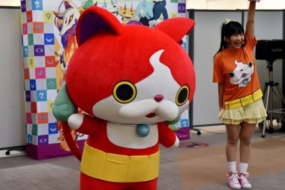 Jibanyan, Japan chooses you! Pikachu trampled beneath paws of Youkai Watch mascot