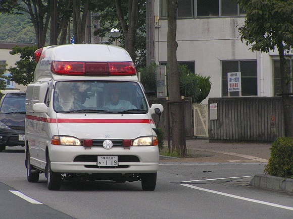 Japanese university lecturer arrested for assualting…an ambulance