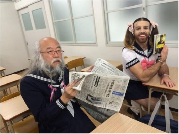 "Ladybeard x Sailor Suit Old Man star in ""dream collaboration"" at school!"