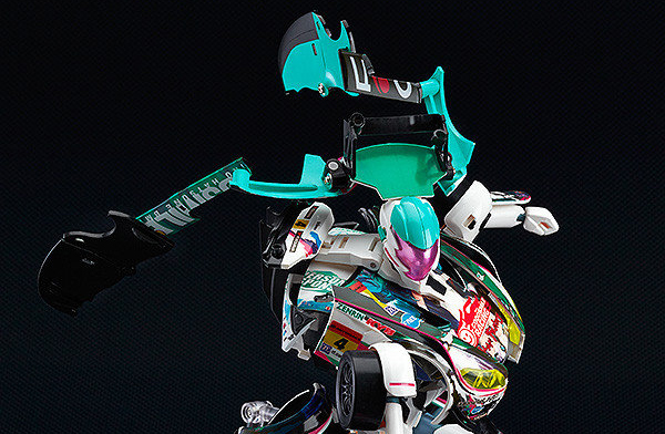 Hatsune Miku transforming race car robot is actually pretty awesome