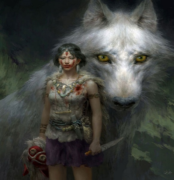 Check out this amazing Princess Mononoke digital fan art from China