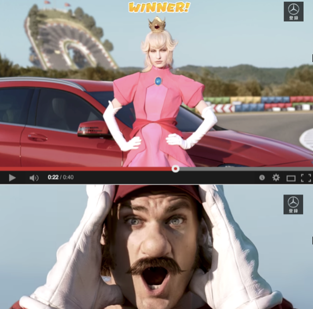 Mario Kart's Mercedes-Benz collaboration enters the real world with TV spot