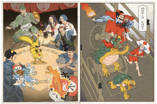 【TBT】Your favorite Nintendo games as traditional Japanese prints
