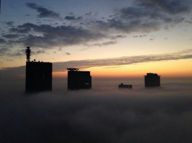 "Spooky ""radiation fog"" turns Saitama cityscape into Silent Hill overnight"