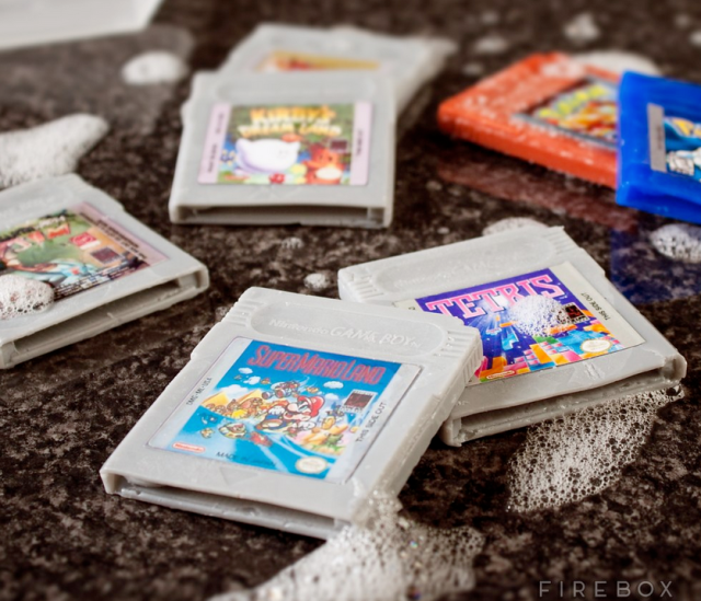 Clean up your game with these amazing Game Boy cartridge soaps