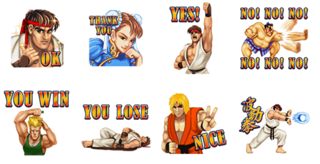 Hadoken! The LINE stickers we've all been waiting for: Street Fighter II