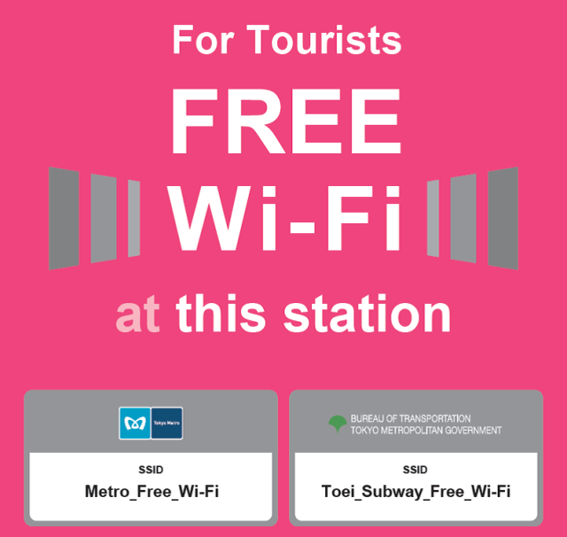 Tokyo adding free Wi-Fi to 143 subway stations for foreign travelers