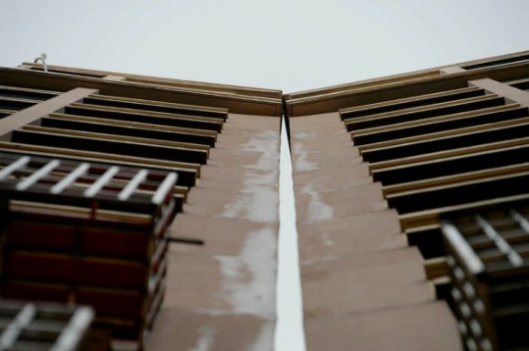 Buildings in China slowly collide, shoddy worksmanship suspected