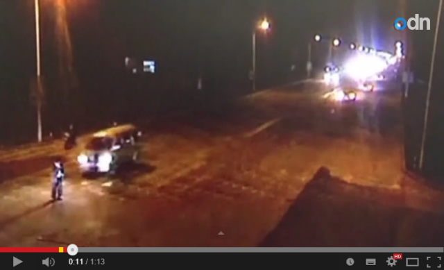 """Ouch! Ouch!! Ouch!!! Man in China hit by three cars while """"crossing"""" the street"""