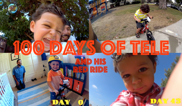 100 Days of Tele and His Red Ride – One cute little boy's Action Cam adventure 【Videos】